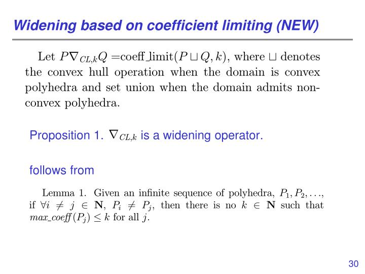 Widening based on coefficient limiting (NEW)
