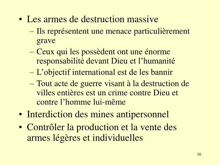 Les armes de destruction massive