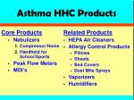 asthma hhc products