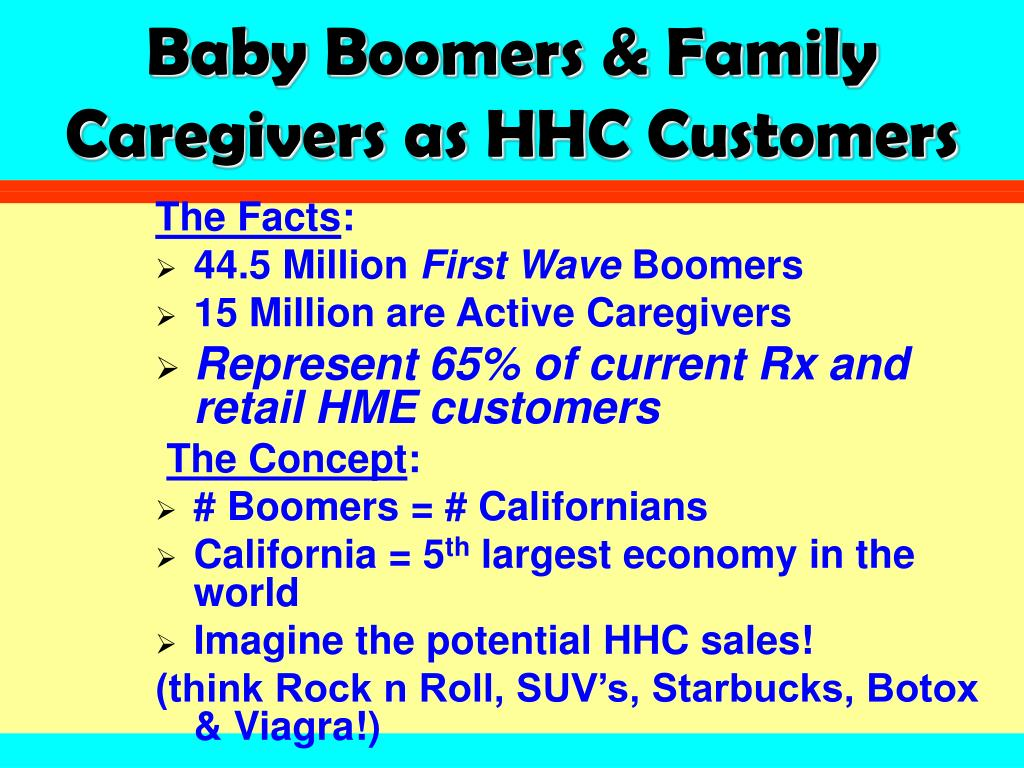 Baby Boomers & Family Caregivers as HHC Customers