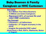 baby boomers family caregivers as hhc customers