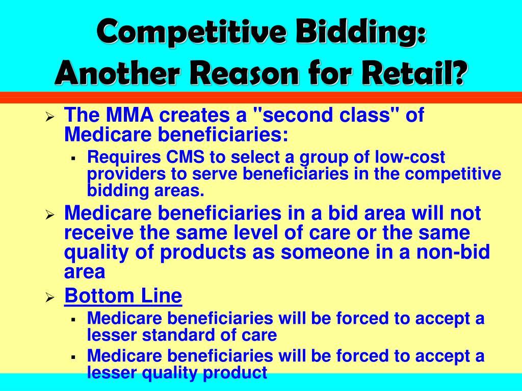 Competitive Bidding: