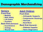 demographic merchandising