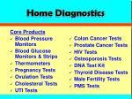 home diagnostics