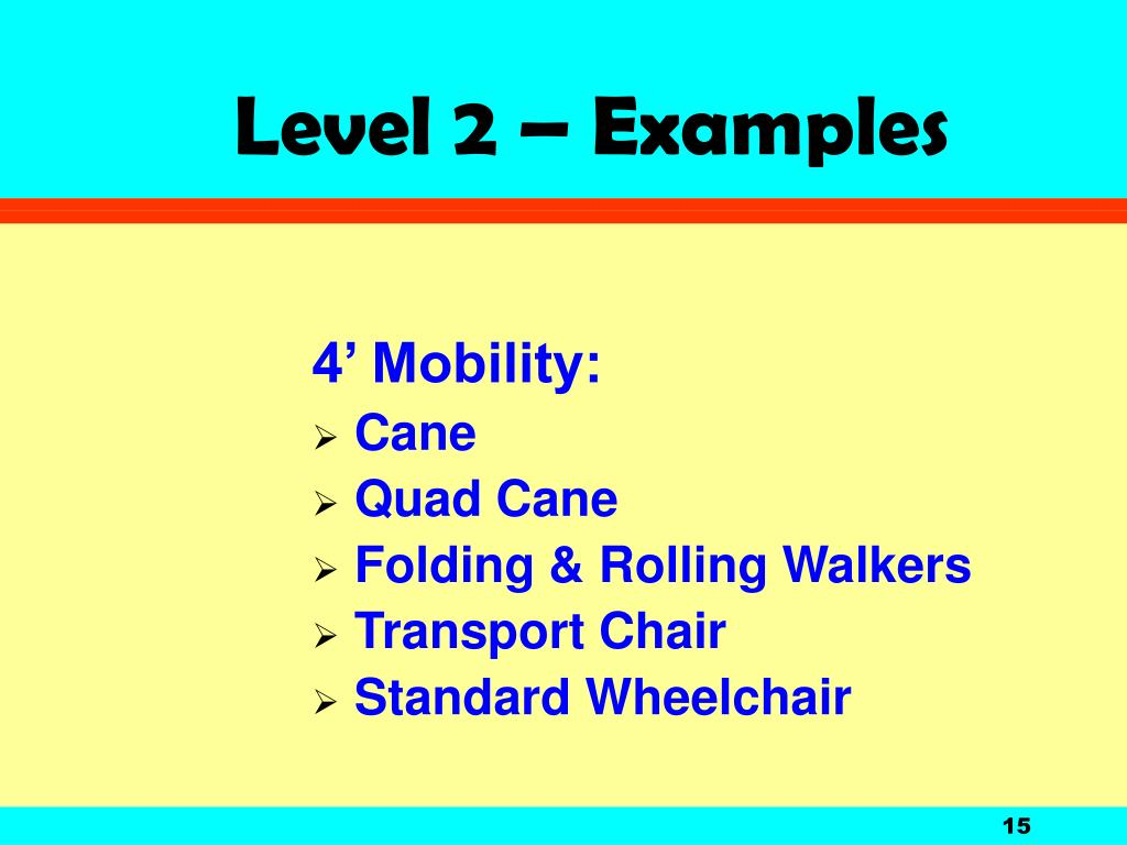 Level 2 – Examples