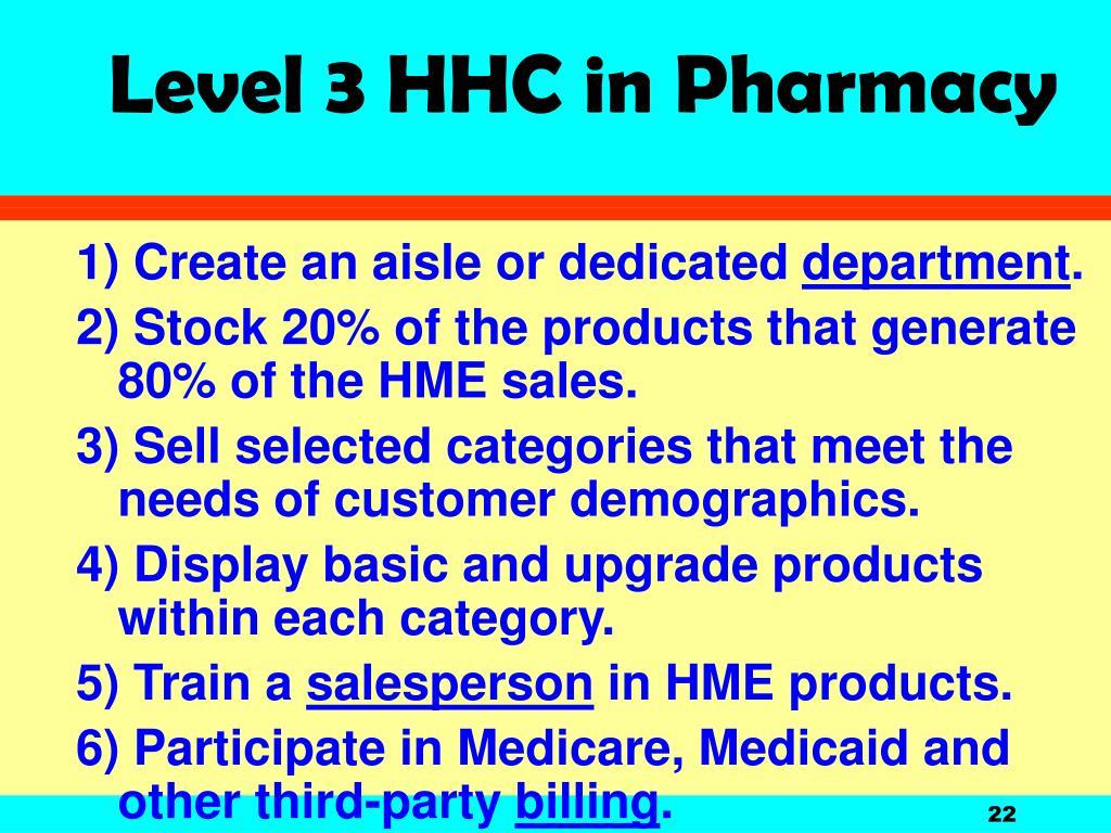 Level 3 HHC in Pharmacy
