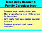 more baby boomer family caregiver stats