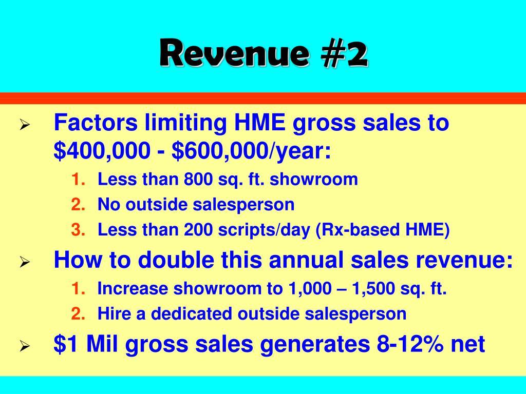 Revenue #2