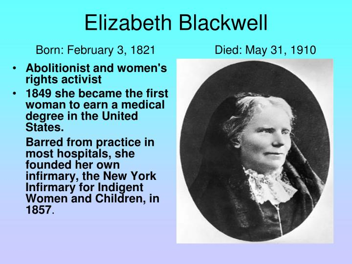 Abolitionist and women's rights activist