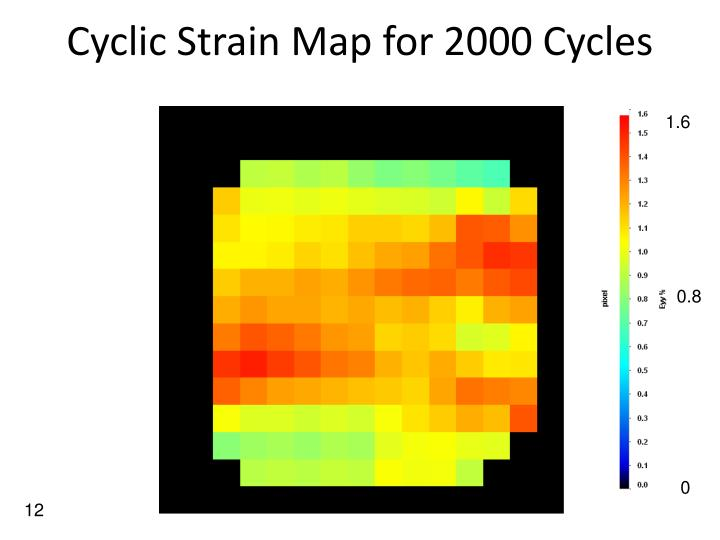 Cyclic Strain Map for 2000 Cycles