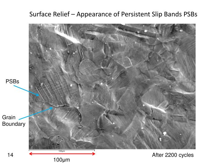 Surface Relief – Appearance of Persistent Slip Bands PSBs