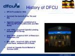 history of dfcu