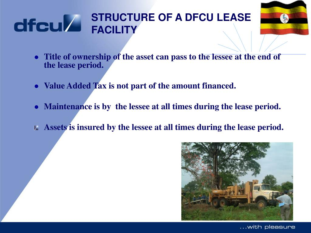 Title of ownership of the asset can pass to the lessee at the end of the lease period.