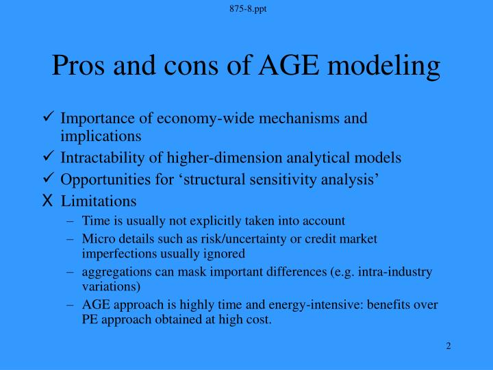 Pros and cons of age modeling