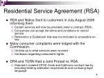 residential service agreement rsa