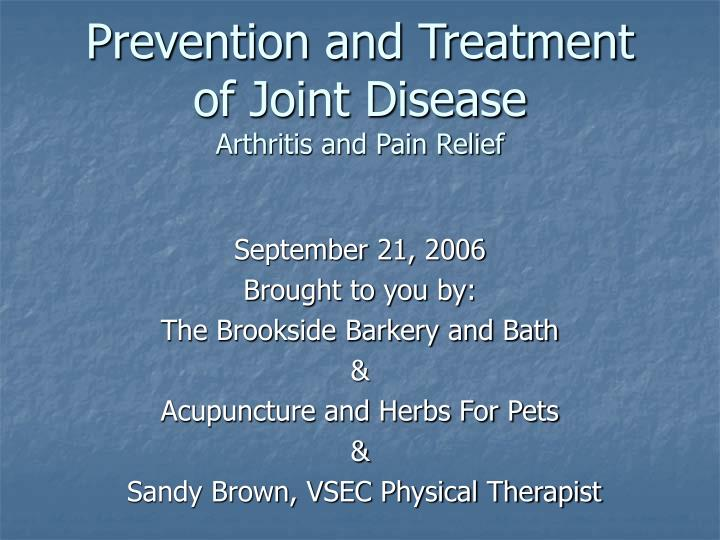 prevention and treatment of joint disease arthritis and pain relief n.