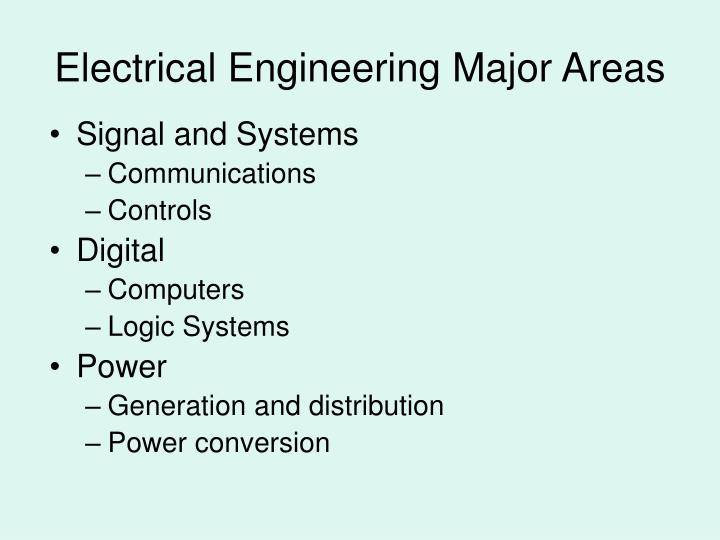 Electrical engineering major areas