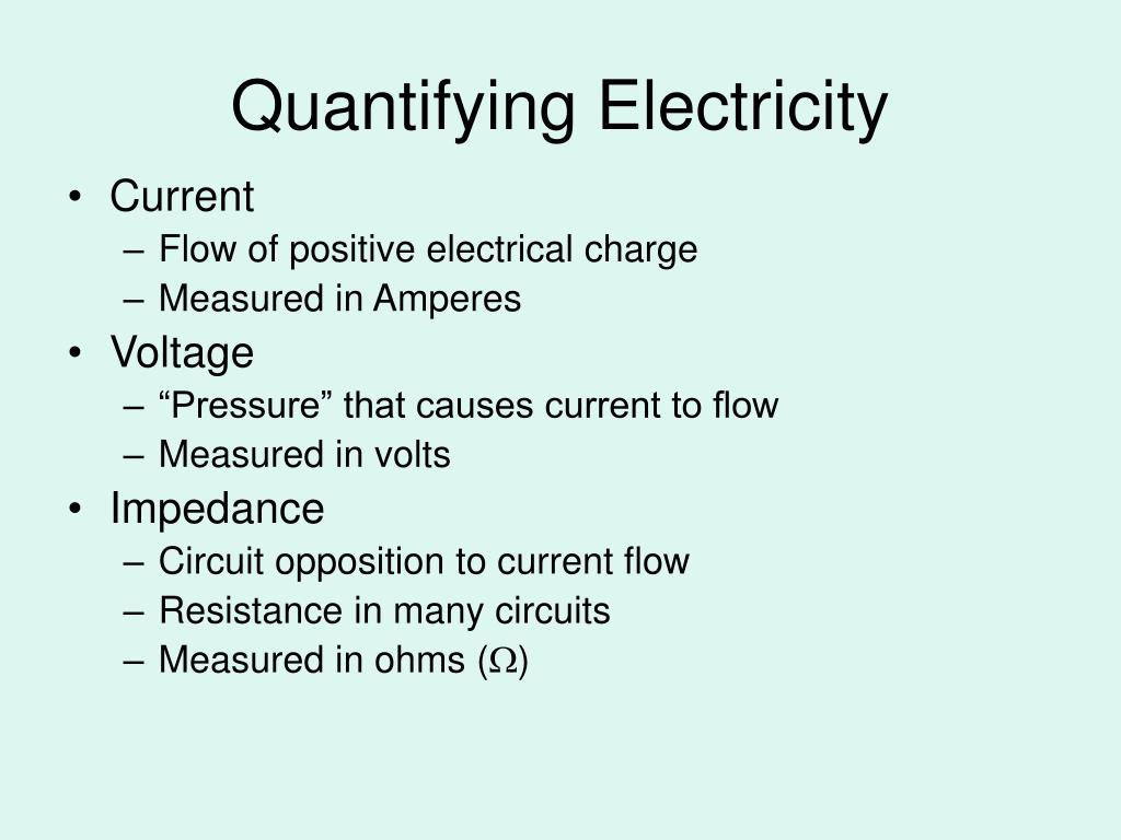 Quantifying Electricity
