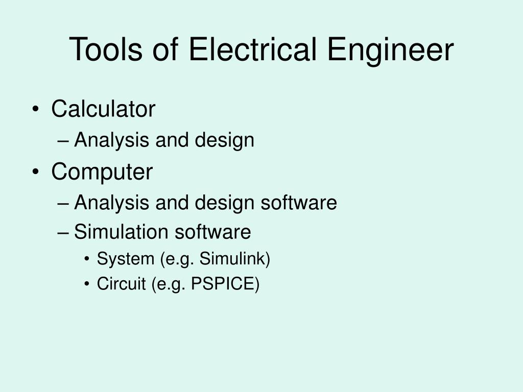 Tools of Electrical Engineer