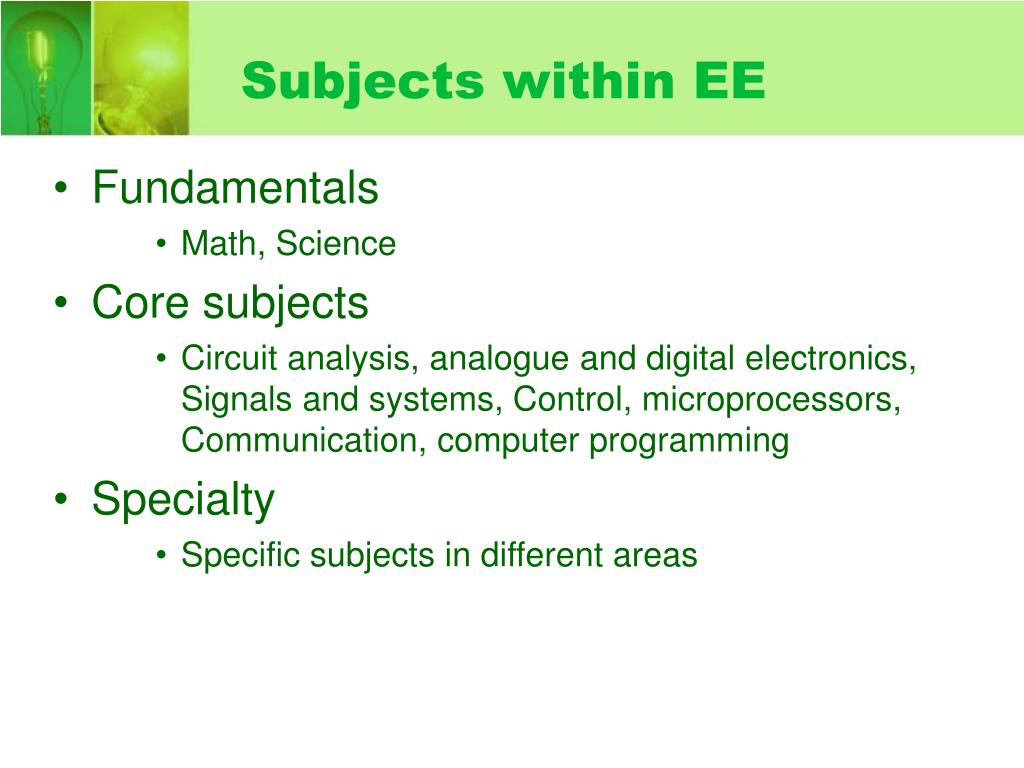 Subjects within EE