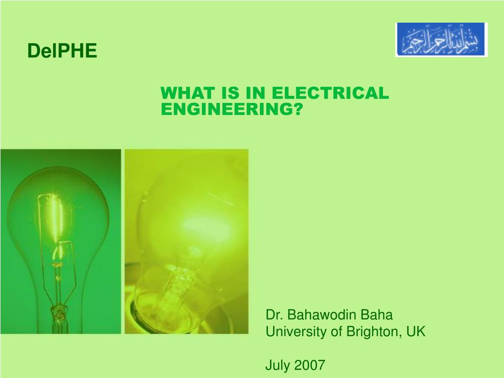 what is in electrical engineering l.