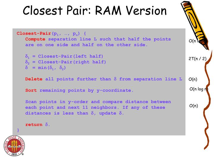 Closest Pair: RAM Version