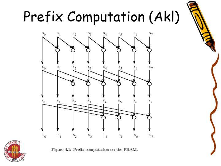 Prefix Computation (Akl)