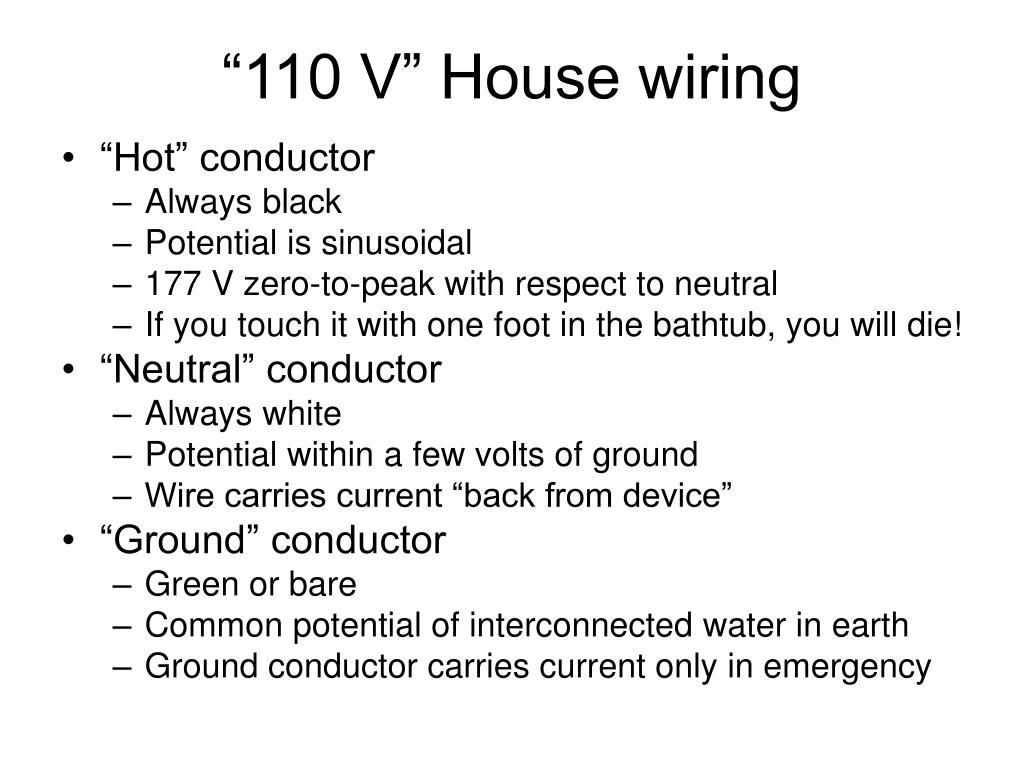 """""""110 V"""" House wiring"""