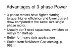 advantages of 3 phase power