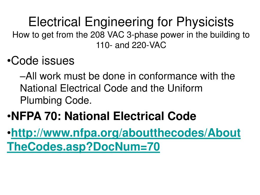 Electrical Engineering for Physicists