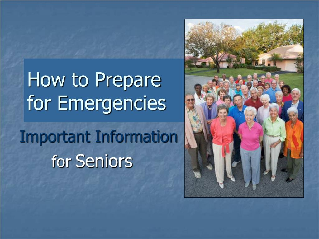 how to prepare for emergencies l.