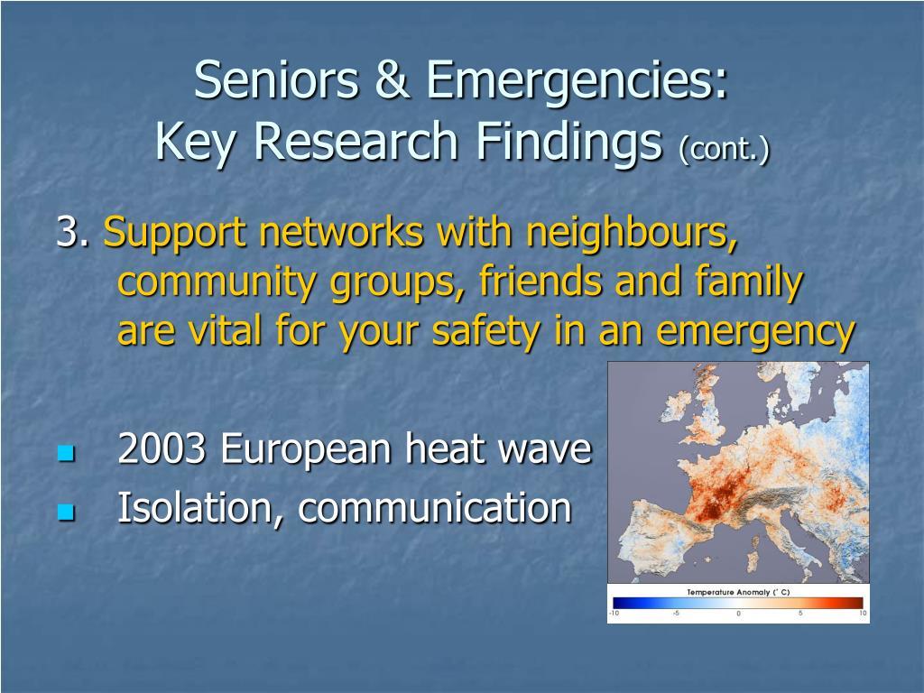 Seniors & Emergencies: