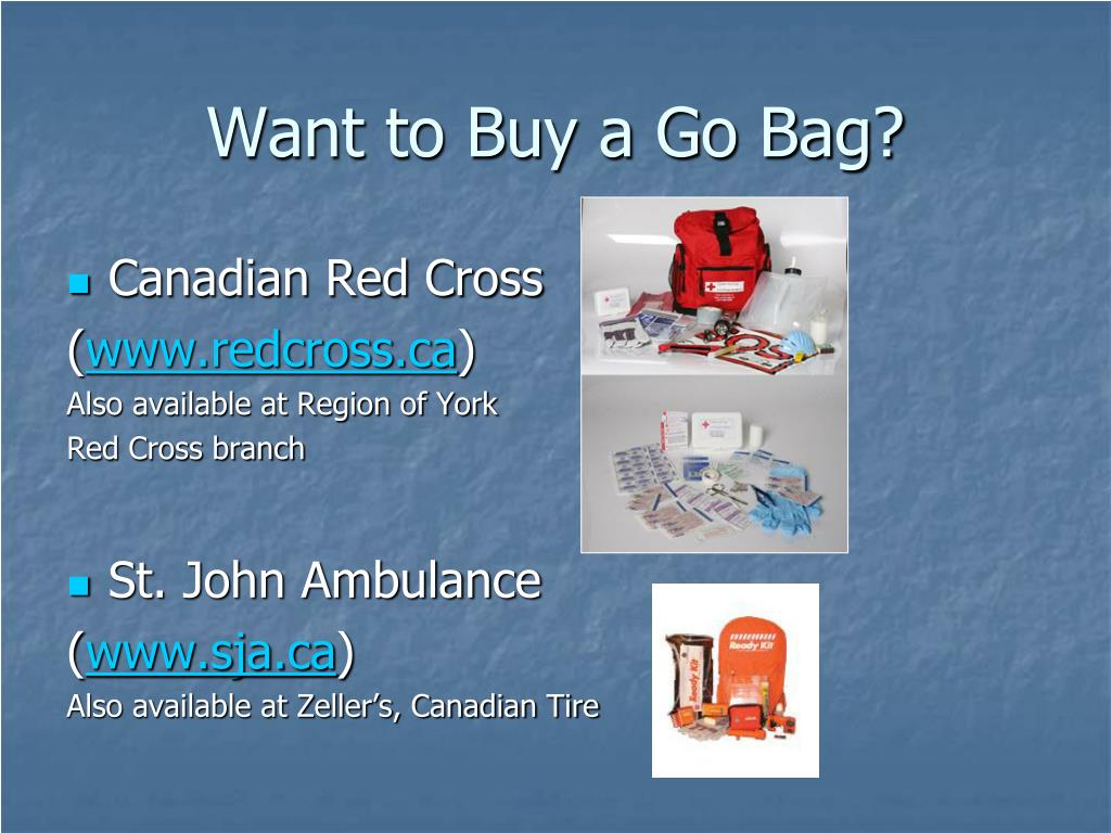 Want to Buy a Go Bag?