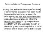 excuse by failure of presupposed conditions1