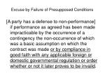excuse by failure of presupposed conditions2