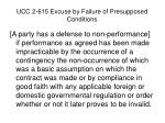 ucc 2 615 excuse by failure of presupposed conditions