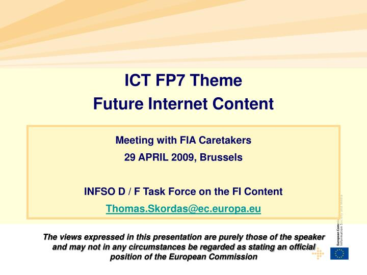 ICT FP7 Theme