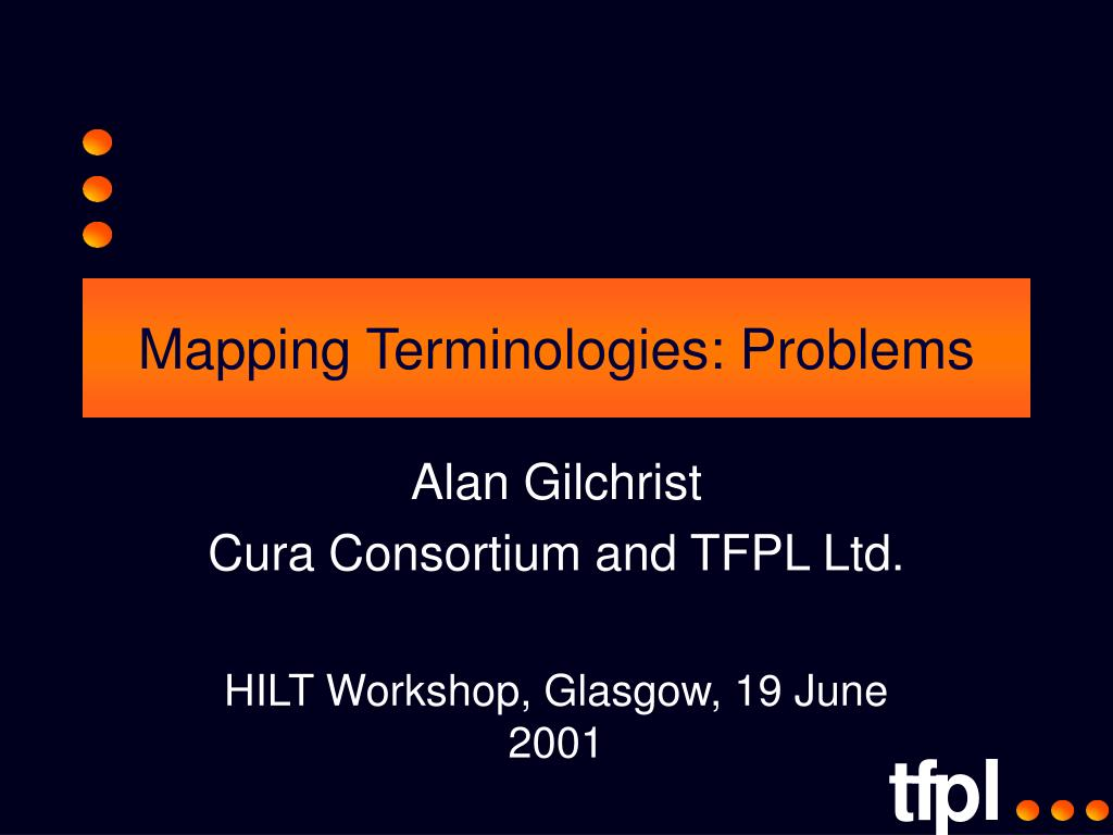 mapping terminologies problems l.
