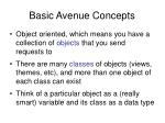 basic avenue concepts