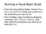 running a visual basic script
