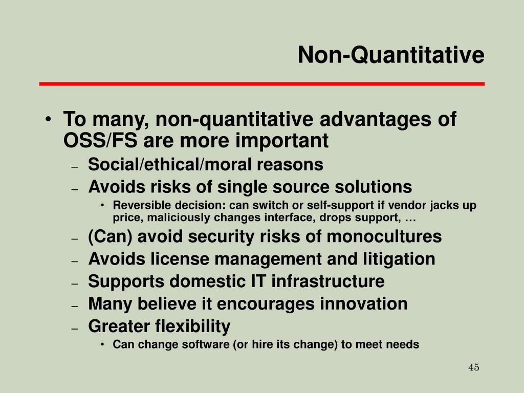 Non-Quantitative