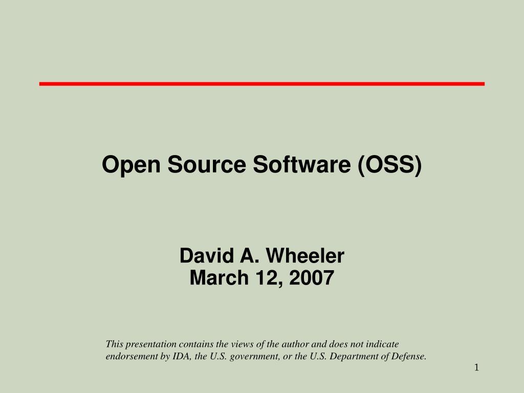 open source software oss l.