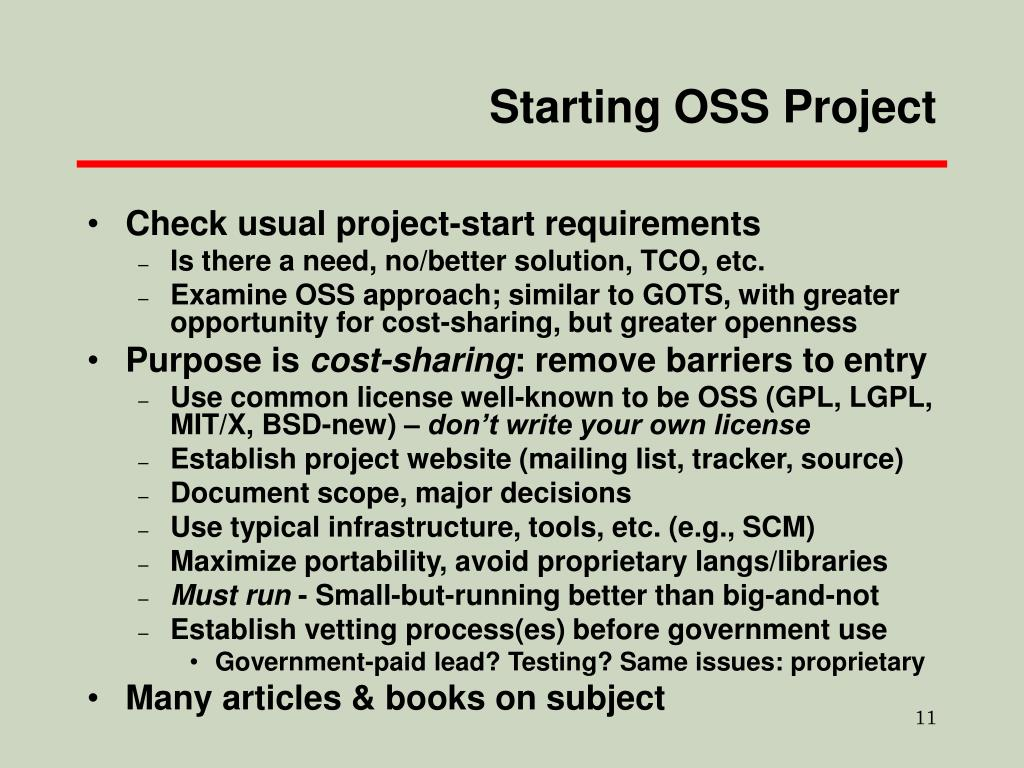 Starting OSS Project