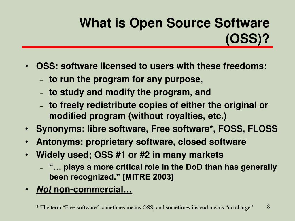 What is Open Source Software (OSS)?