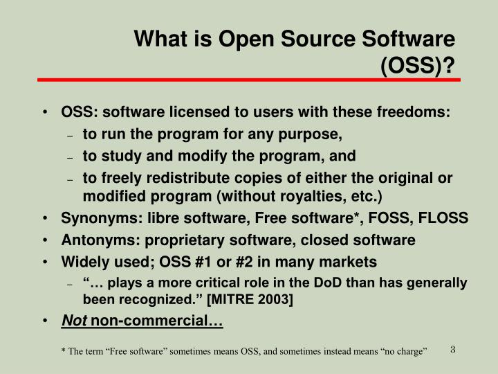 What is open source software oss