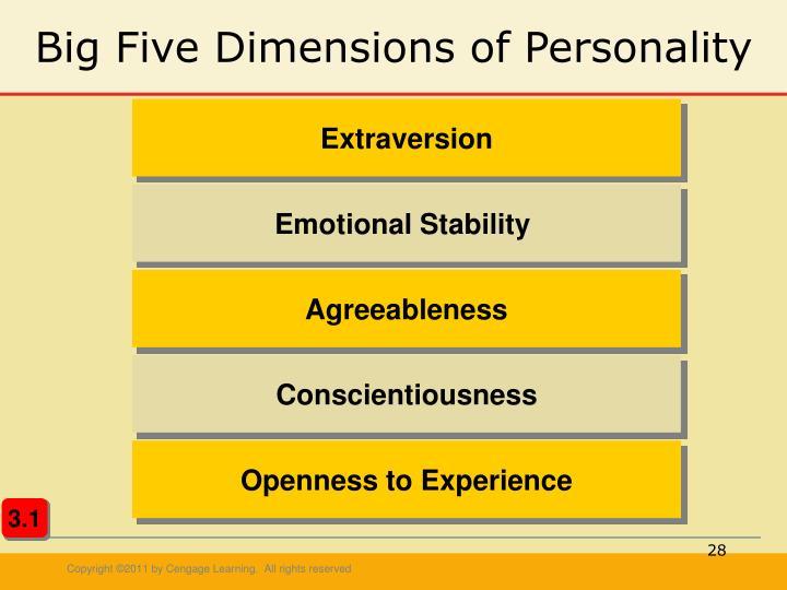 big five personality dimension