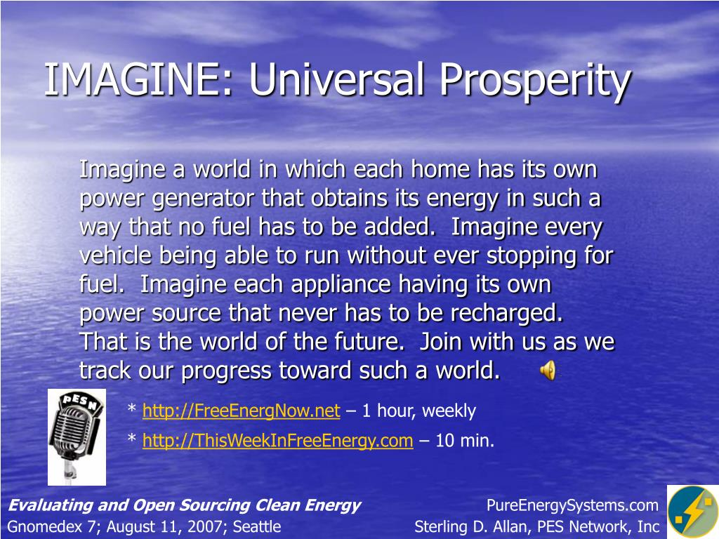 IMAGINE: Universal Prosperity