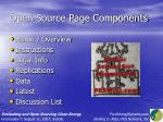 open source page components