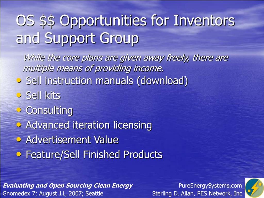 OS $$ Opportunities for Inventors and Support Group