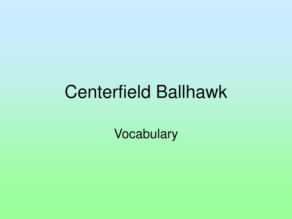 centerfield ballhawk l.